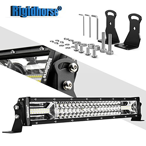 LED Light Bar Rigidhorse Triple Row 22Inch 180W LED Work Light Spot Flood Combo LED Lights LED Bar Driving Fog Lights Jeep Off Road Lights Boat Lighting