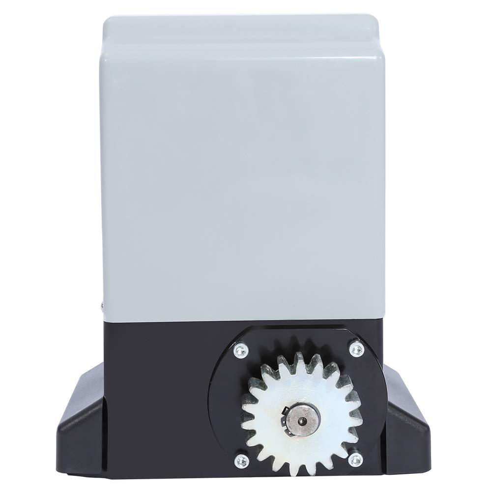 Kit Motor Puerta Corredera Motorizaci/ón 370W M/áx 600Kg Kit Abridor de Puerta Corredera Autom/ático Ajustable con Sonda de Sensor Infrarrojo 2 Mandos a Distancia 2 Teclas para Residencial y Comercial