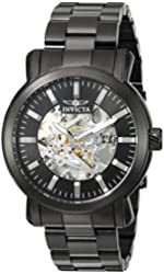 Invicta Men's 'Vintage' Automatic Stainless Steel Casual Watch, Color:Black (Model: 22576)