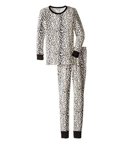 BedHead Kids Girl's Long Sleeve Long Pants Tweens Set (Big Kids) Ivory/Gray Mighty Jungle Pajama Set 10 (Big Kids)