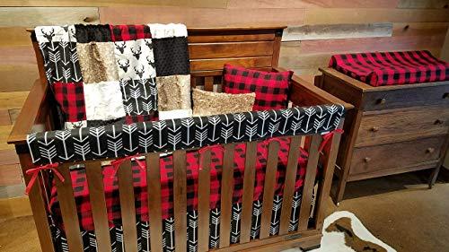 DBC Baby Bedding Co. Woodland Fawn 3 PC Set - Skirt, Sheet, Blanket