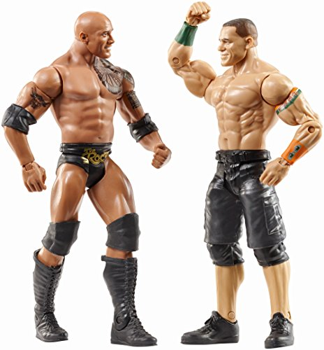 51%2BrxMQD2jL - WWE-WrestleMania-The-Rock-John-Cena-Figures-2-Pack