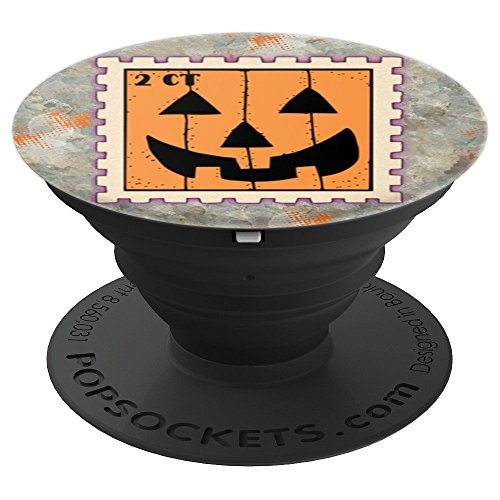 Halloween Pumpkin 2 Cent Postage Stamp - PopSockets Grip and Stand for Phones and Tablets (Postage Adhesive)