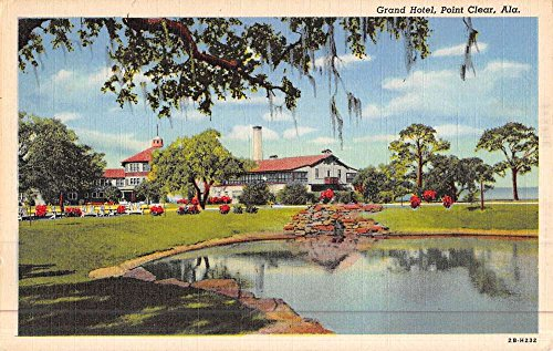 Point Clear Alabama Grand Hotel Waterfront Antique Postcard -