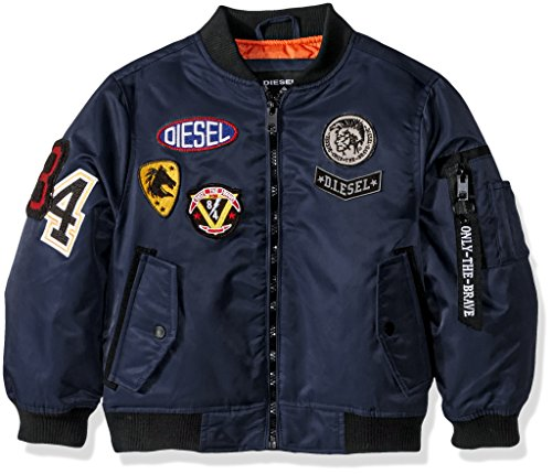 Diesel Boys' Big Outerwear Jacket (More Styles Available), Flight/Dark Blue, 18/20
