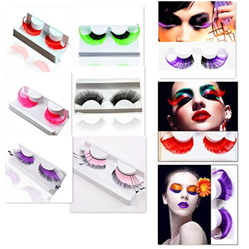 AnHua® New Sexy Fun Ladies Styles Handmade Reusable Long Thick Fancy Party Feather False Eyelashes Makeup Eye Lashes