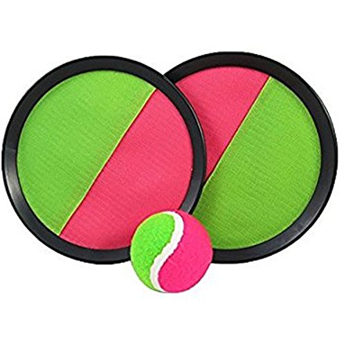 JEWELS FASHION Durable Toss & Catch Ball Game with Disc Paddles&Ball For Child or Adult- Perfect For Indoor& Outdoor, Traveling, Backyard, Garden, Beach, Park, School, Lakes by JEWELS FASHION