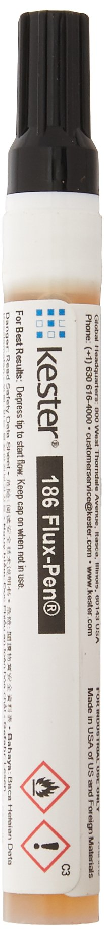 Kester 83-1000-0186 Mildly Activated Rosin Liquid Flux Pen for Lead-Bearing and Lead Free Alloy, 0.33 fl. oz.