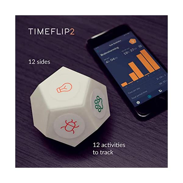 Timeflip2 Time Tracker Interactive Cube with Mobile App and Pomodoro Timer 3