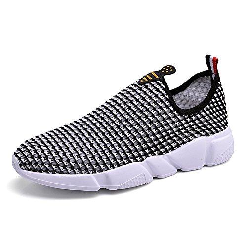 HangFan Men-Women Couple Breathable Out Water Shoes Walking Beach Shoes Black 9PU3zwE