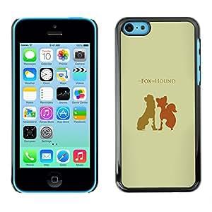// PHONE CASE GIFT // Duro Estuche protector PC Cáscara Plástico Carcasa Funda Hard Protective Case for iPhone 5C / Fox Hound /