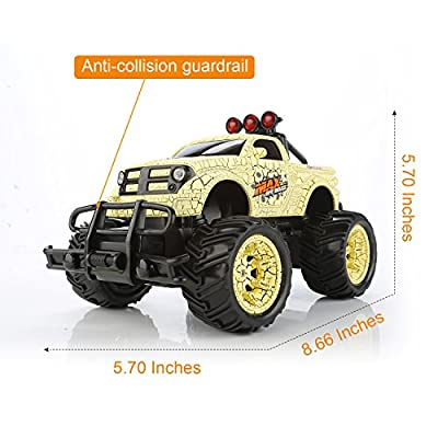 QuadPro NX5 Remote Control Car, 2WD 1:20 Scale Monster Truck Rc Cars for Kids, Off Road Vehicle Toys for Boys by QuadPro