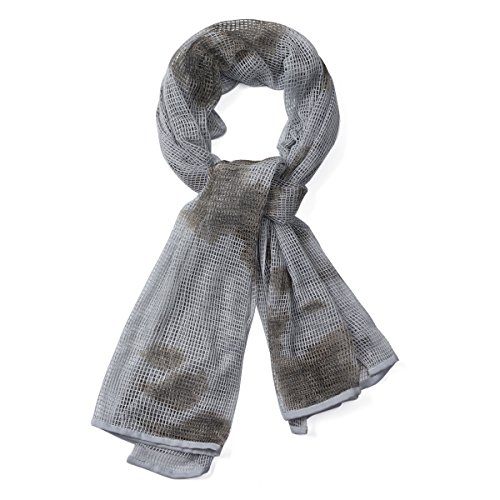 Scarf Tactical Camouflage Outdoor Cotton Grid strips Warm Head Neck Scarf Wrap Snow Camouflage Color