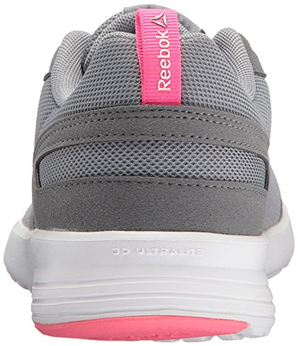 Reebok Medium Flyer Pewter White White Flat Grey Shoe Track Pink Women's Poison Grey Foster rg1qr8
