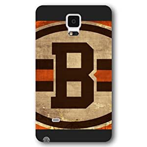 UniqueBox Customized NFL Series Case for Samsung Galaxy Note 4, NFL Team Cleveland Browns Logo Samsung Galaxy Note 4 Case, Only Fit for Samsung Galaxy Note 4 (Black Frosted Shell)