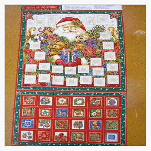 Calendrier de l'Avent Père-Noël en tissu Poches NU036–Kit Nutex