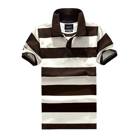 Yisaesa Camisetas de Manga Corta de algodón con Solapa de Polo ...