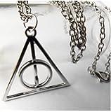 CargoMix© Das Dreieck Deathly Hallows hängende Charme-Halskette -Silber
