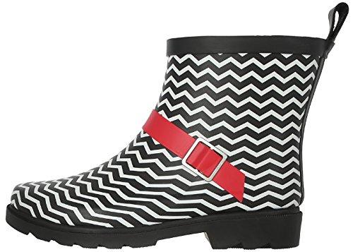 Short Printed Black Capelli New Red Boot Rain Umbrella York Ladies UwXHnAB6q