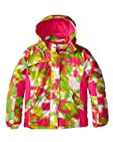 Big Chill Little Girls' Space Dye Systems Snowboard Coat Ski Jacket, Pink Glo, 4
