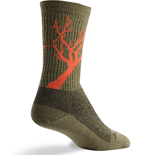 Sock Guy Wool Bike Sock - SOCK GUY Deadwood Wool Socks Green L/XL
