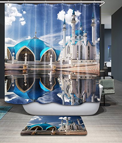 ZEEZON Bathroom Curtains Of The King's Castle Polyester Width X Height / 72 X 80 Inches / W H 180 By 200 Cm Best Fit For Birthday Artwork Him Hotel Custom. Anti Bacterial. Fabric