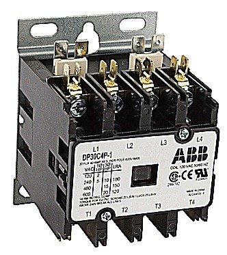 ABB, DP30C4P-F, 4 Pole, 30 Amps, 24VAC Coil, Definite Purpose Contactor
