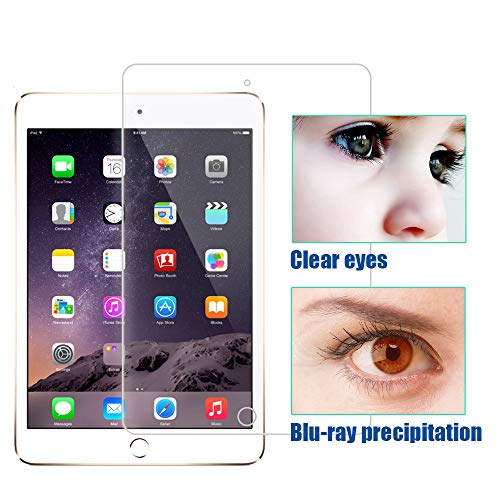 PERFECTSIGHT Screen Protector Compatible with iPad Pro 12.9 Inch (2015/2017 Model) [55% Anti Glare] Blue Light Filter 9H Anti Fingerprint Tempered Glass [1 Pack]