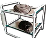 Rover Company Raised Cat Bunk Hammock Pet Bed - Green Trim