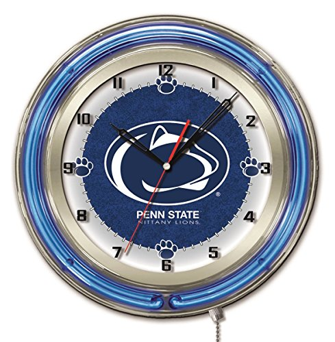 - Penn State Nittany Lions HBS Neon Blue College Battery Powered Wall Clock (19