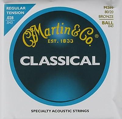 C.F. Martin Classical Guitar Bronze Wound Ball End Regular, .028 - .043, M-260