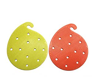 NEW JJMG Pack of 2 Max Heat BBQ Grip Silicone Pad Works Like Gloves, Jar Opener, Heat Resistance Baking, Cooking And Grill Pads, Protect Your Hands, Vegetables and Fruits Scrubber