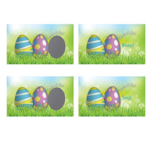 Easter Egg Scratch-Off Giveaway Cards, Family/Party Casino Games, Pack of 25 ()