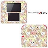 Kitty Cat Pattern Decorative Video Game Decal Cover Skin Protector for Nintendo 2Ds