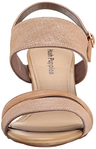Malia Molly Sandal Hush Puppies Women's Scratched Leather Dress Leather Tan wREtEgTqK