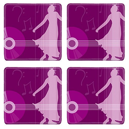 Liili Square Coasters female dancing mus - Dancing Squares Natural Shopping Results