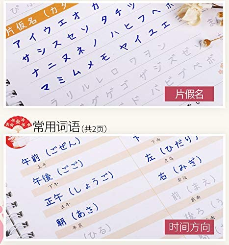 Children Elementary School Students Practice Handwriting Japanese Copybook Magic Word Plate Groove Copybook Chinese Edition