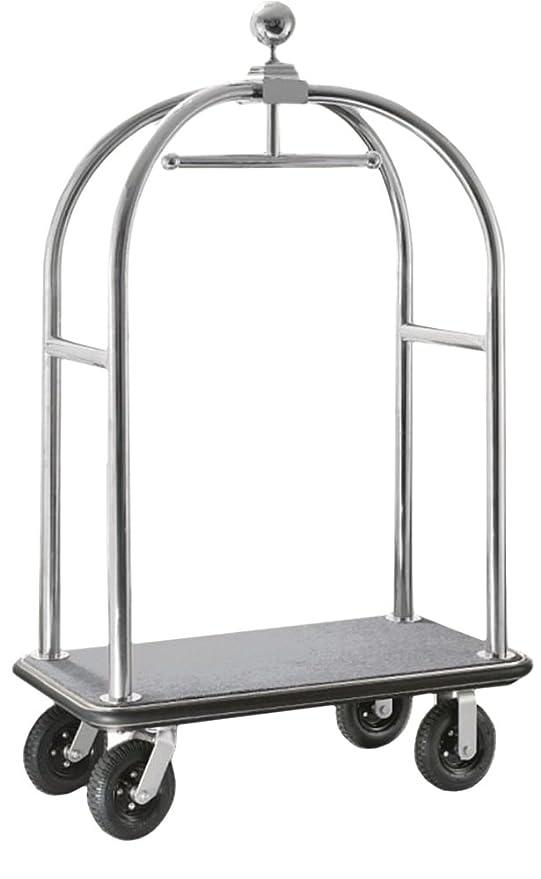 gastlando - Carrito para equipaje Plateado acero inoxidable 1100x 620 x 1900 mm