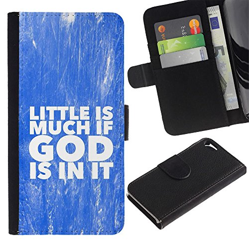 OMEGA Case / Apple Iphone 5 / 5S / GOD IS MUCH BIGGER / Cuir PU Portefeuille Coverture Shell Armure Coque Coq Cas Etui Housse Case Cover Wallet Credit Card