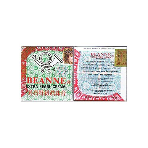 Beanne Extra Pearl Cream - 2 Packs x 0.3 oz - GREEN Package