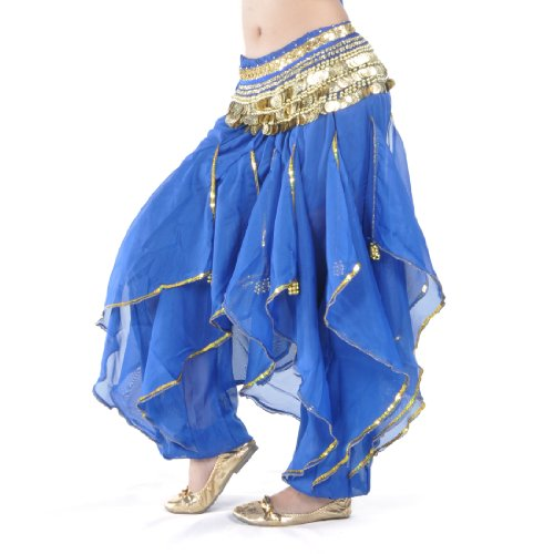 BellyLady Belly Dance Harem Pants Tribal Baggy Arabic Halloween Pants (Arabian Nights Dance Costume)