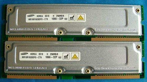 Samsung PC1066-32 512MB (2x256MB) RDRAM Rambus Memory ()