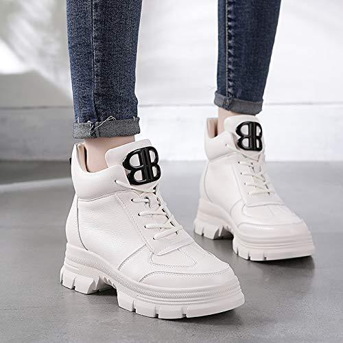 Épais Loisirs Chaussures Hbdlh white Ensembles La Velours Neige Muffin Bas Hauteur De Pour Femmes Martin Bottes 5 Talon 100 Chaleureux Cm White Du 6TdqwT