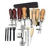 BESTOYARD DIY Leder Handwerk Stanzwerkzeuge Kit Carft Punch Tools Set