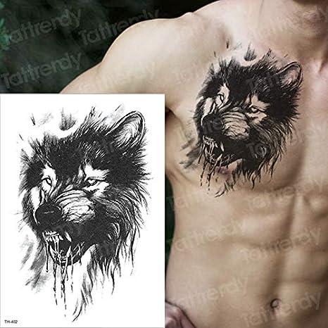 tzxdbh León Tatuaje Temporal Hombres Brazo Tatuajes Mangas Cuerpo ...
