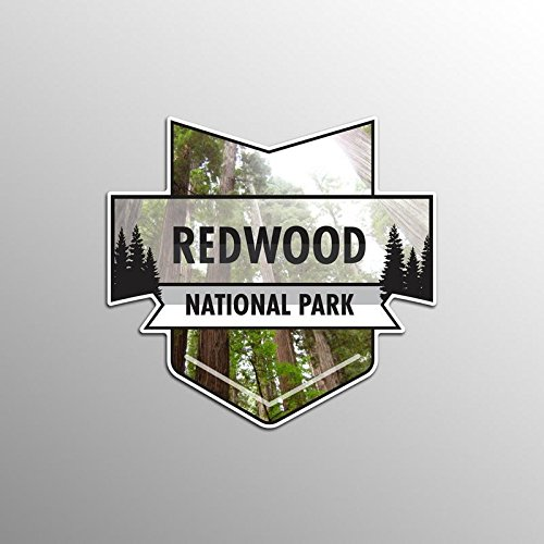 JMM Industries Redwood National Park Vinyl Decal Sticker Car Window Bumper 2-Pack 4.7-Inches by 4.4-Inches Premium Quality UV Protective Laminate NPS048
