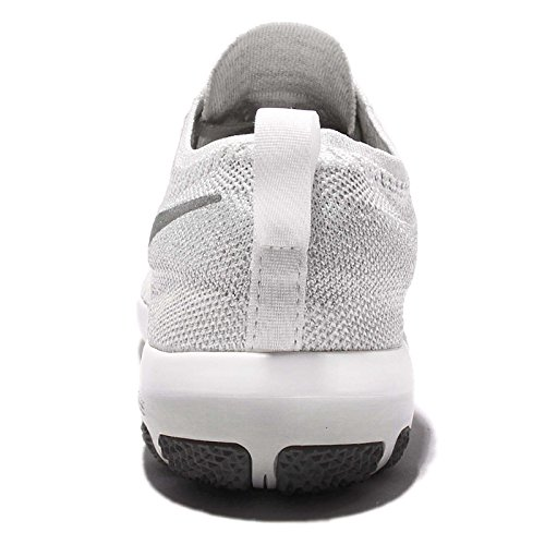 Mesh Free Focus Silver Grey Clear Grey Wolf NIKE Womens Metallic Flyknit White Trainers Breathable xSHaIgBgwq