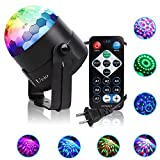 Party Lights, Ucio Stage Lights, Sound Activated Disco Ball with Remote...
