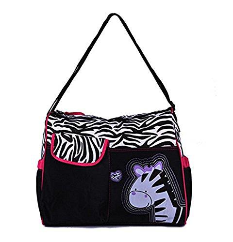 niceEshop(TM) Multifunción Momia Bolsa de Pañales del Bebé del Pañal del Bolso(Tigre Rosa) Rosa