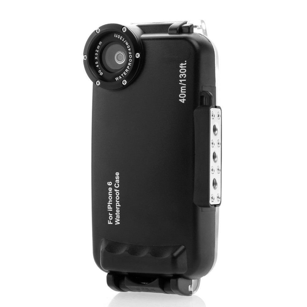 HolaFoto MEIKON Hight Quality 40m 130ft Rated Dive Professional Submersible Underwater Photo Video Camera Waterproof Photo Housing Diving Swimming Skin Protective Case Cover for Apple iPhone 6 4.7'' by HolaFoto (Image #3)